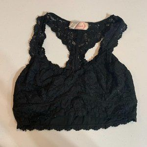 Blush Black Lace Bralette Small
